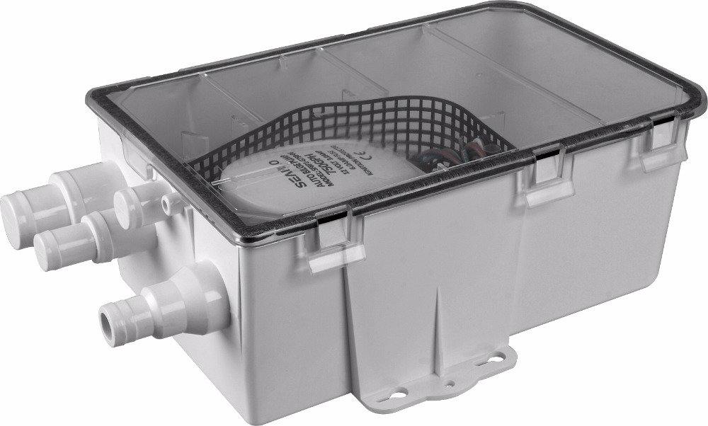 seaflo 24v 750gph marine shower drain pump sump box multi inlet compare to attwood rule