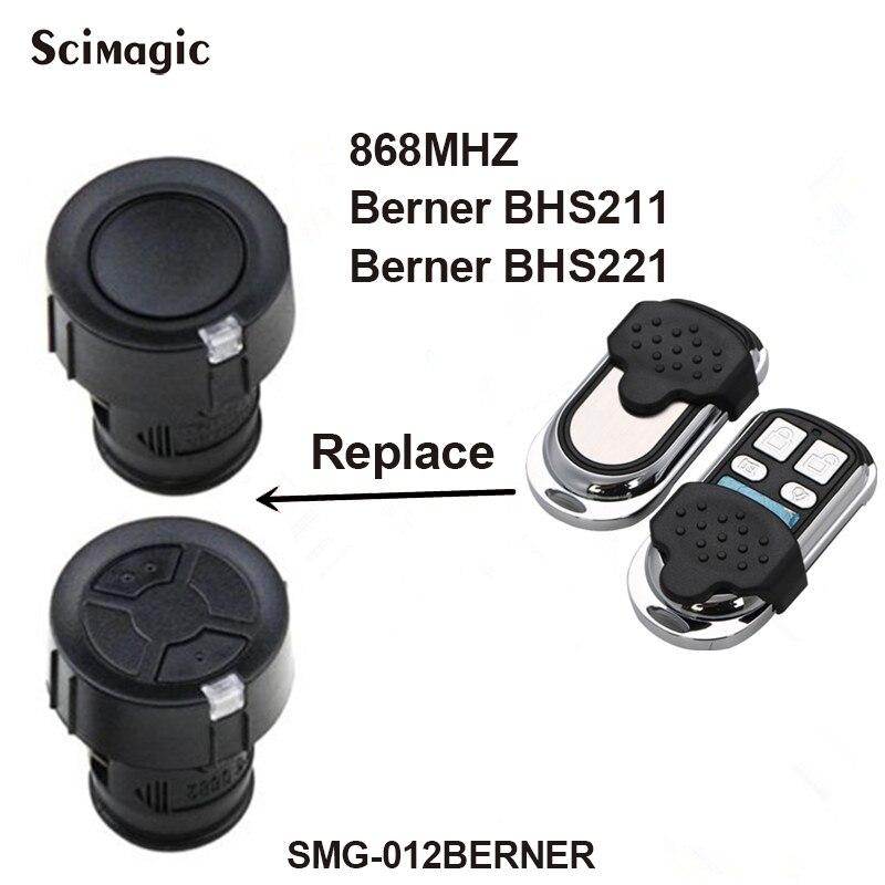 For Berner BHS 211 221 153 110 140 121 130 Remote Control Garage Gate Door Clone Berner Remote Duplicator 868.3MHz