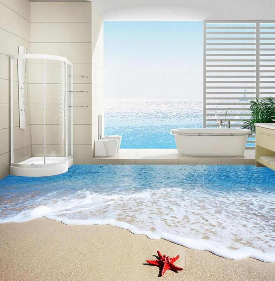 Photo wallpaper mural floor 3D wallpaper floor for living room Water ...