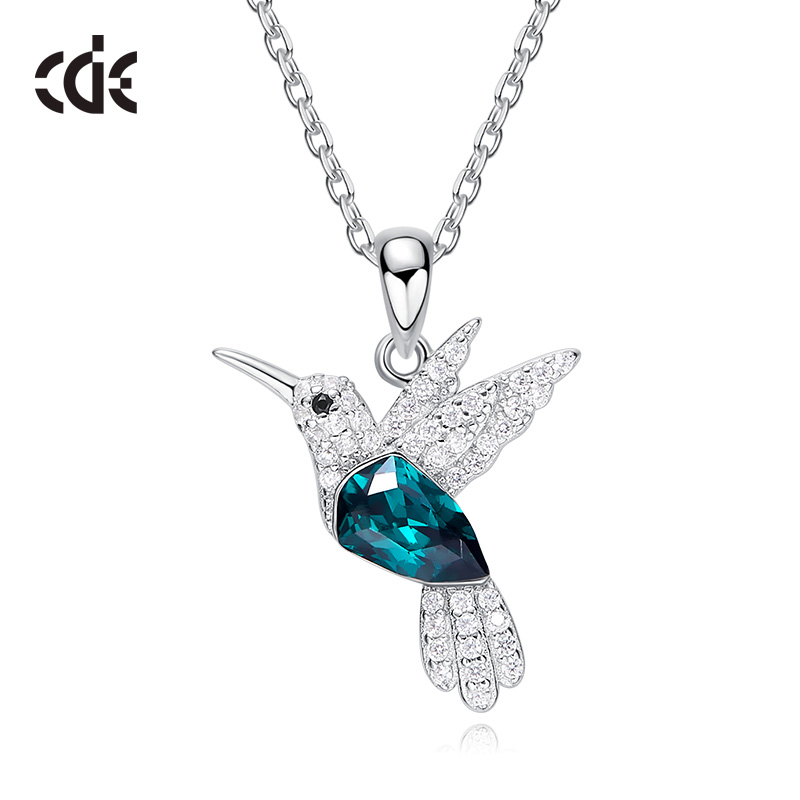 CDE 925 Sterling Silver Necklace For Women Embellished with 