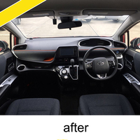lsrtw2017 abs car interior trims cup frame trims vent trims for toyota sienta 2015 2016 2017 2018 2019 XP170 2nd generation