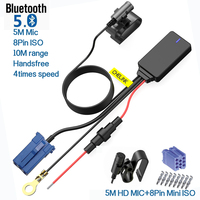 Wireless Handsfree Bluetooth 5.0 Module Aux Cable 8pin ISO Adapter Dongle Audio Stereo Mp3 For Skoda Polo EOS Golf Passat Toura