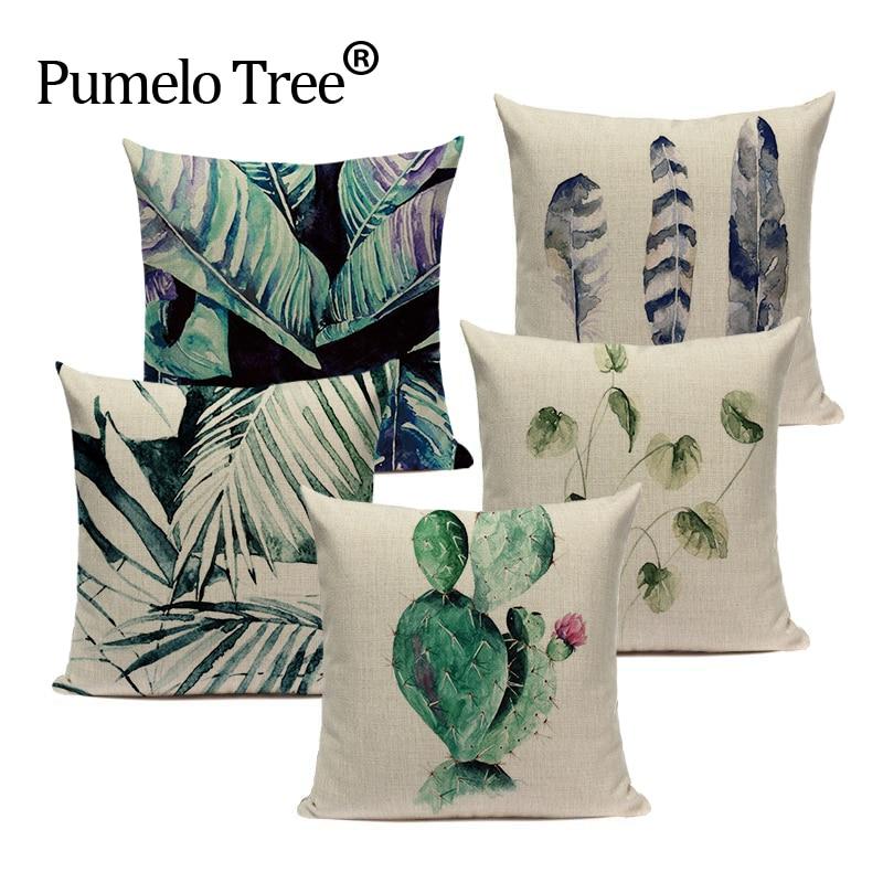 Luxury Nordic Linen Cotton Cartoon Characters Almofadas Pillowcase Cojines 45Cmx45Cm Square Home Office Furniture 3D Pillow