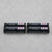 Bateria de Lítio para Lanterna 4 PCS Recarregável 18650 Baterias 3.7 V 4200 MAH Li-ion LED COR Preta