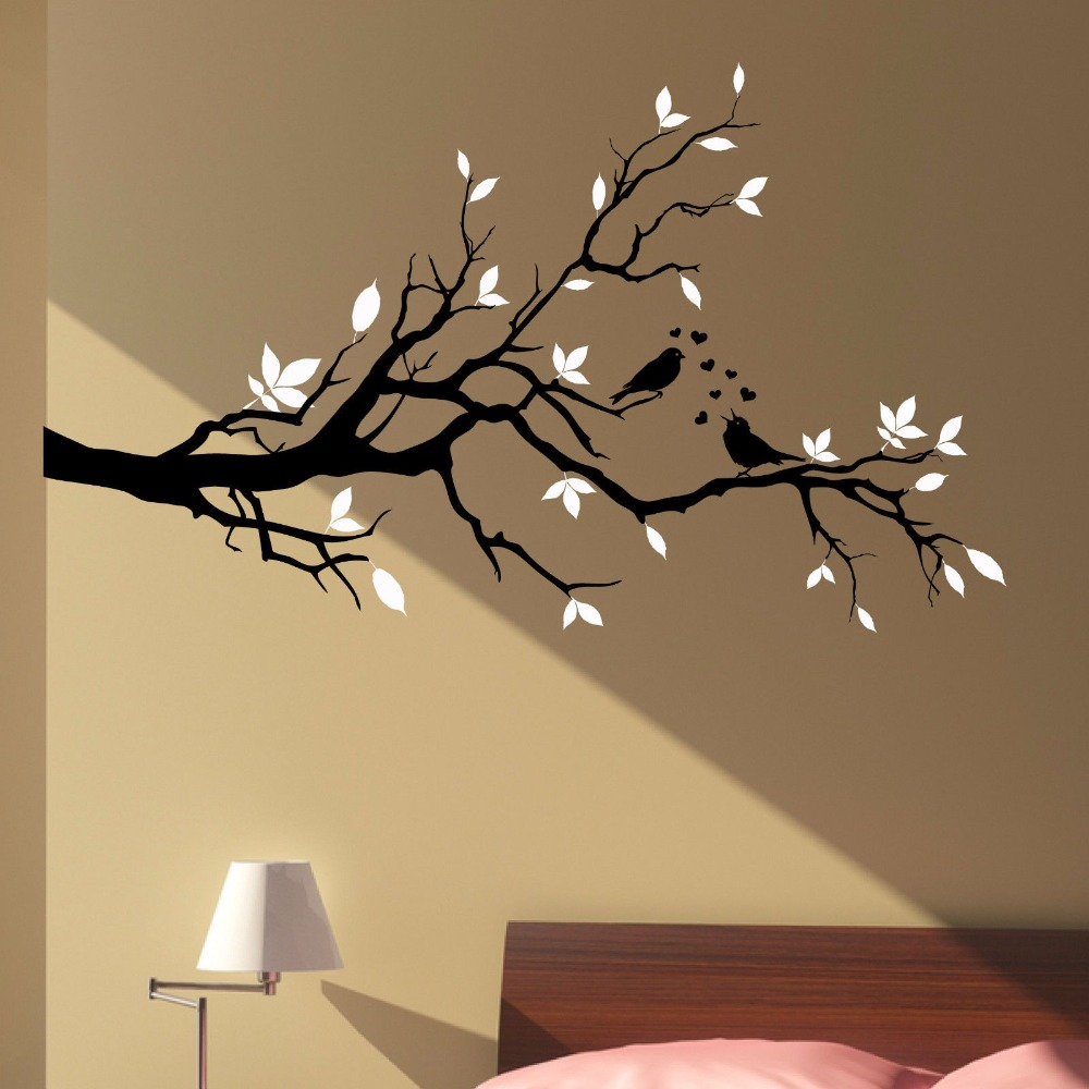 Wall Art Flowers And Birds : Stickers art floral wall promotion for