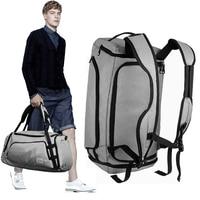 Дорожная сумка многофункциональный холст серый мужские дорожные сумки большой емкости водонепроницаемый вещевой мешок ручной клади путеш