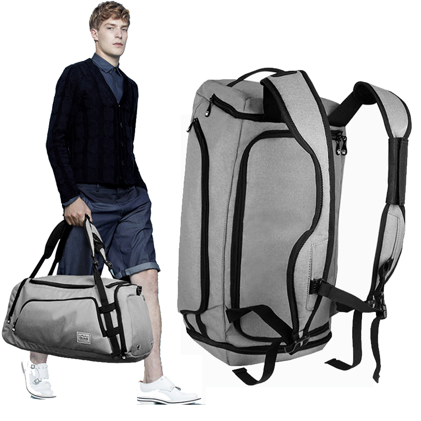 travel bag Multifunction canvas gray men travel bags large capacity waterproof duffel bag carry on luggage travel shoe organizer customized trip canvas nylon men travel bags carry on luggage bags men duffel bags travel tote large weekend hand bag overnight