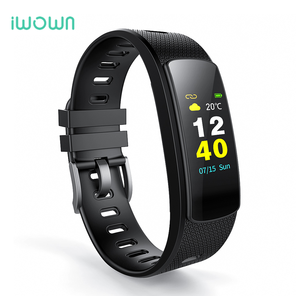 IWOWN Wristband Fitness-Tracker Smart-Bracelet Bluetooth Heart-Rate-Monitor Color-Screen title=