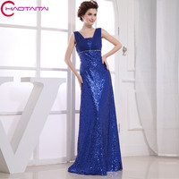 2017 Blue Formal Gowns New Design Hot Maxi Real Photos Long Straight Brides Maid Dress Gown