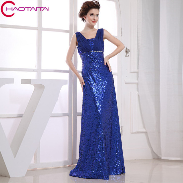 2017 Blue Formal Gowns New Design Hot Maxi Real Photos Long Straight ...