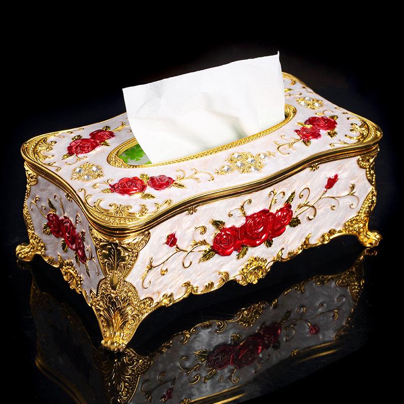 Russian style living room creative retro home napkin box large European style facial tissue box hotel restaurant pumping boxes in Storage Boxes Bins from Home Garden