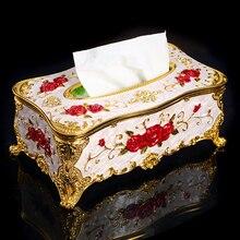 цены Russian style living room creative retro home napkin box large European-style facial tissue box hotel restaurant pumping boxes