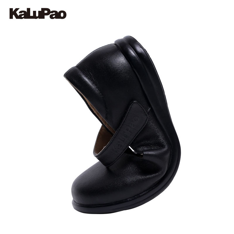 Kalupao New Black Children S School Leather Shoes Spring Princess