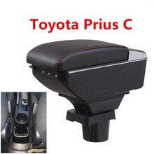 Для ToyotaPrius C Prius C подлокотник коробка центральный магазин содержание коробка для хранения Aqua подлокотник коробка с подстаканником пепельница USB интерфейс