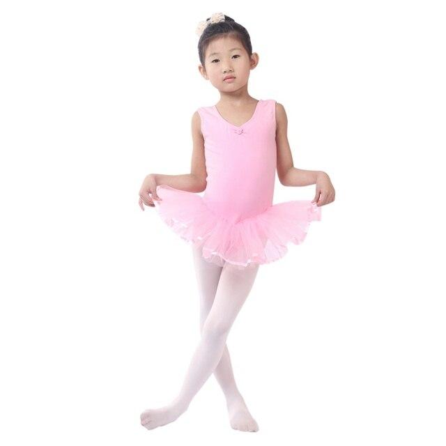 purchase cheap dc5ae e5673 US $6.65 23% di SCONTO|4 14 Anni Ragazze Carine Vestito Balletto Per I  Bambini Ragazza Danza Abbigliamento All'ingrosso Bambini Costumi di  Balletto ...