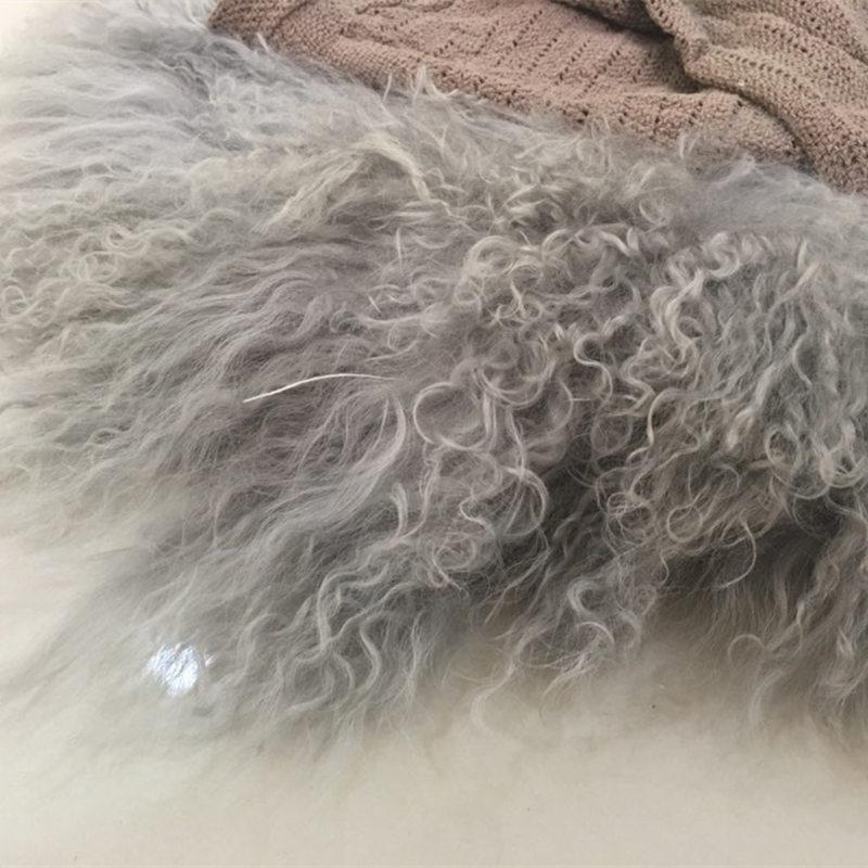 Accessoires de photographie de couverture de laine bouclée nouveau-né, couverture de coussin de remplissage de panier de Flokati pour des accessoires de photographie de bébé