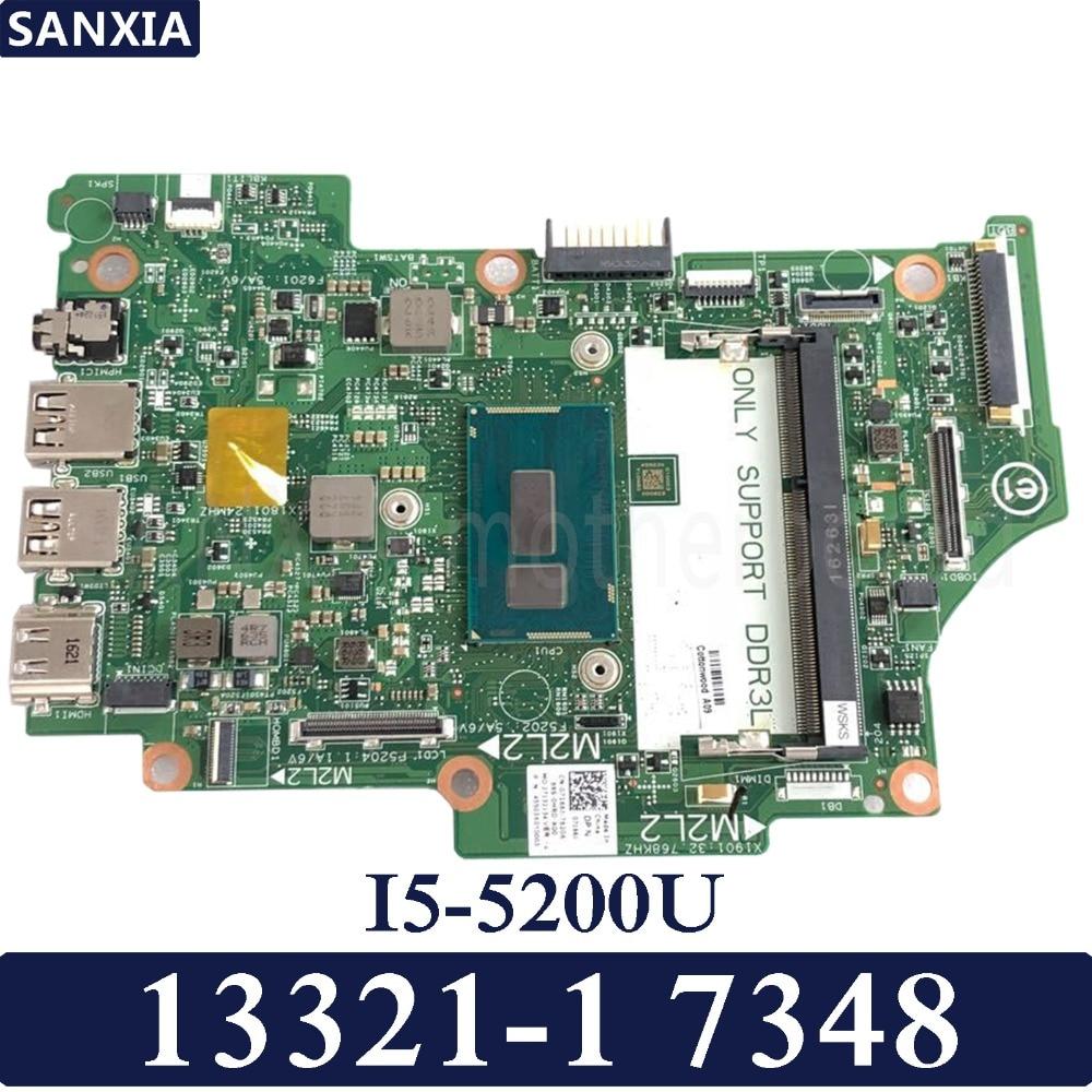KEFU 13321 1 Laptop motherboard for Dell 7348 Test original mainboard I5 5200U