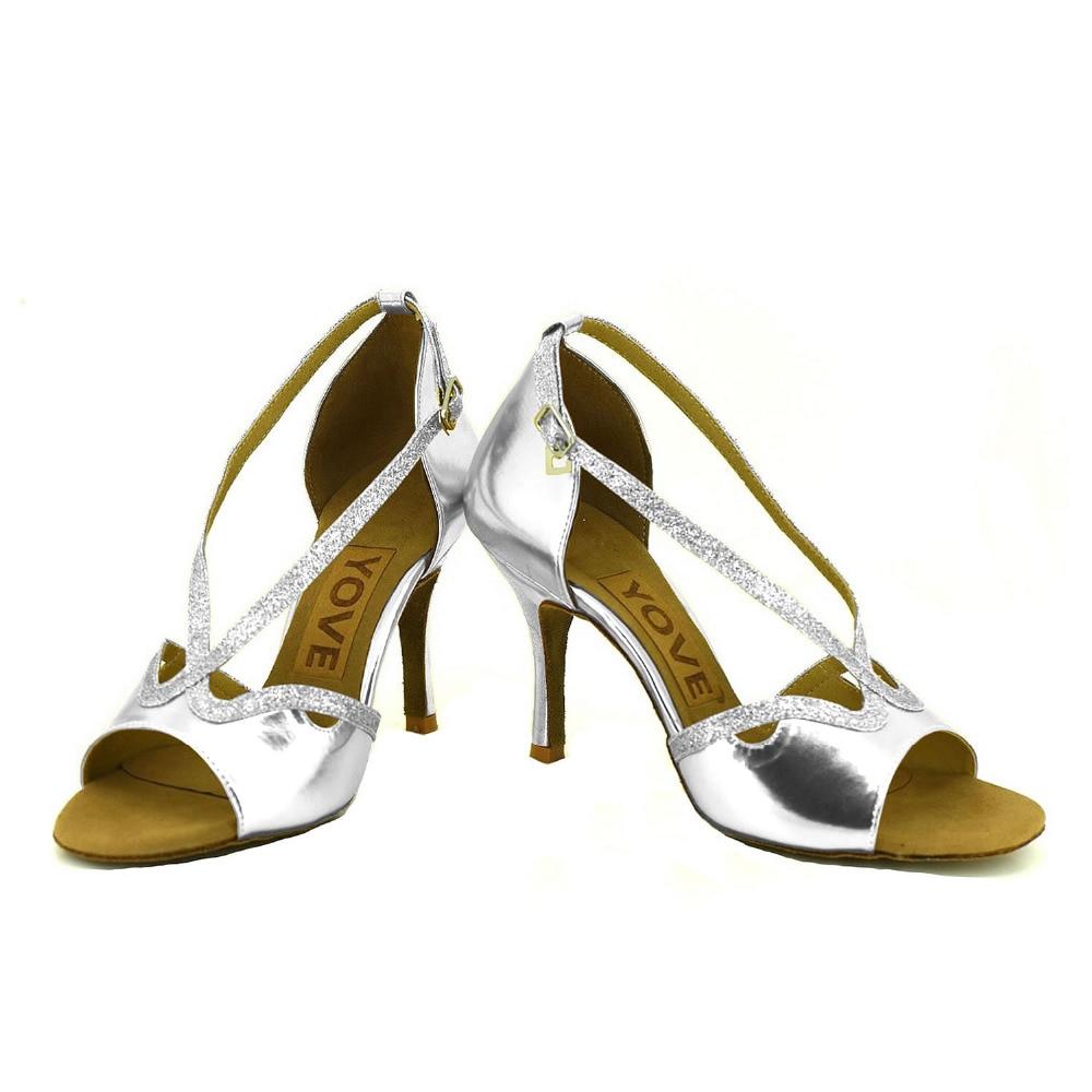 ФОТО YOVE Customizable Dance Shoes PU Women's Latin/ Salsa Dance Shoes 3.5