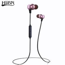 HIIBN J27 4.2 Wireless Stereo Headset Bluetooth para Auriculares Con Micrófono de Alta Calidad en la oreja los Auriculares De Metal Para IOS Android