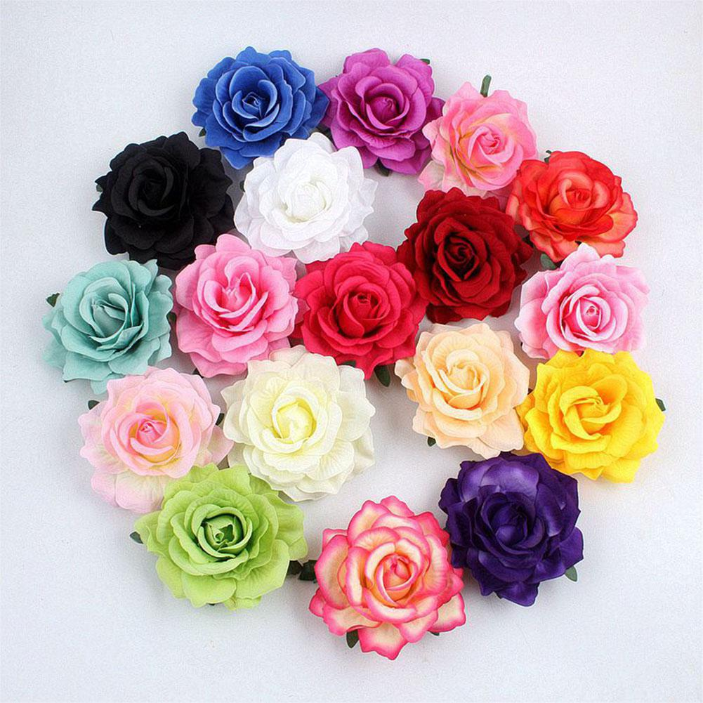 20pcs/lot DIY Simulate Blooming Roses Artificial Flower Head for Wedding Decoration Gift