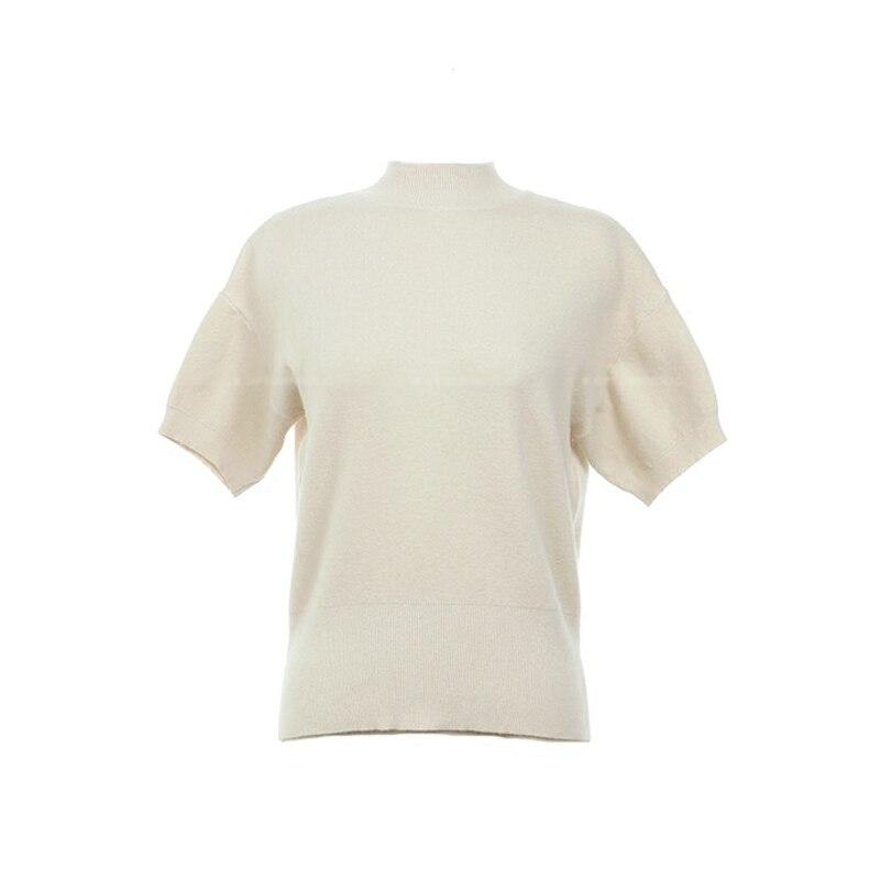 58ed1e879774 Spring Soft Girl Knitted T Shirt Women Top Short Sleeve Tee Shirt Femme  Chemise Camiseta Feminina Camisa Mujer Kawaii-in T-Shirts from Women s  Clothing ...
