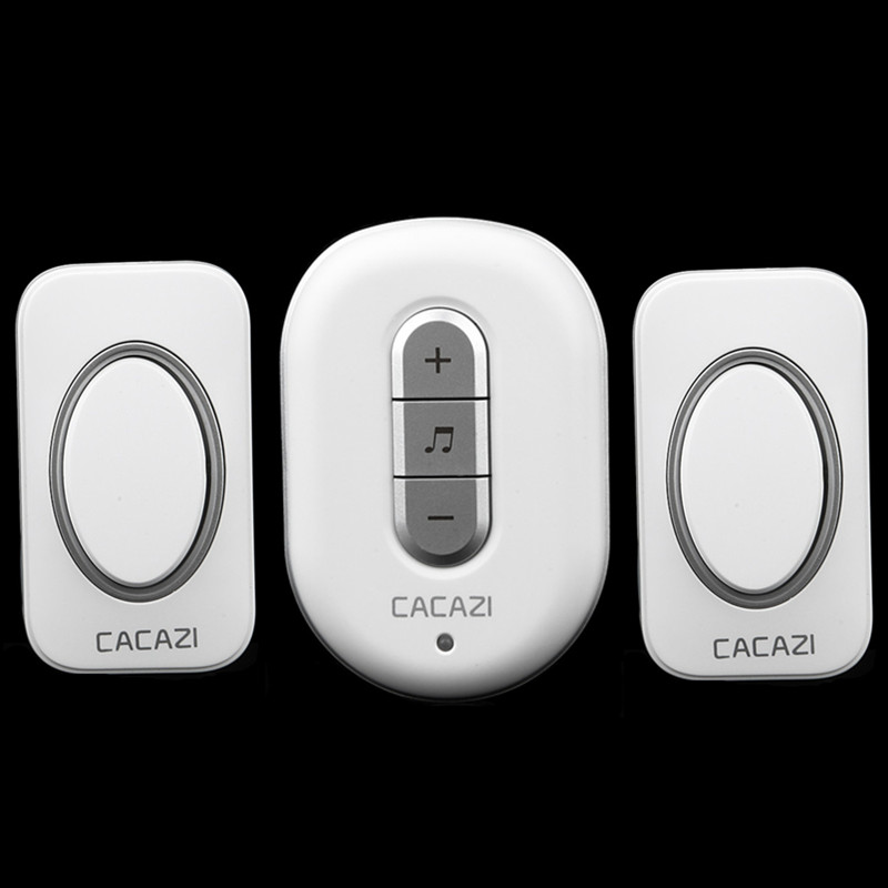 2 transmitters+1 receiver 280m remote control door bell AC 110/220V Wireless Doorbell Waterproof button elderly pager door ring wireless service call bell system popular in restaurant ce passed 433 92mhz full equipment watch pager 1 watch 7 call button