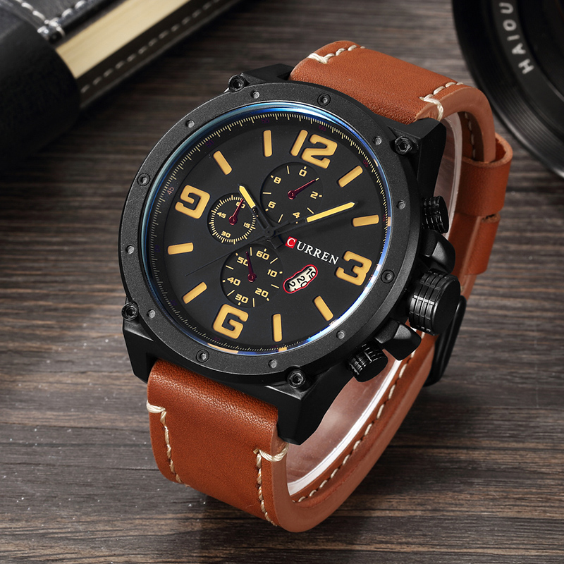 New Fashion Top Luxury Brand CURREN Sports Watches Men Quartz Ultra Thin dial Clock Sports Military Watch Relogio masculino цены