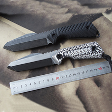 Free shipping  New style High hardness DC53 steel camping hunting tactics survival knife fixed blade sharp edges G10 handle