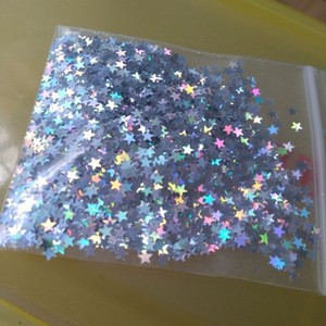 Image 4 - 10 Grams Star Confetti 3MM Laser Holographic Silver Stars Glitter Sequins Confetti for Wedding Party Supplies & Nail Art (1 Bag)