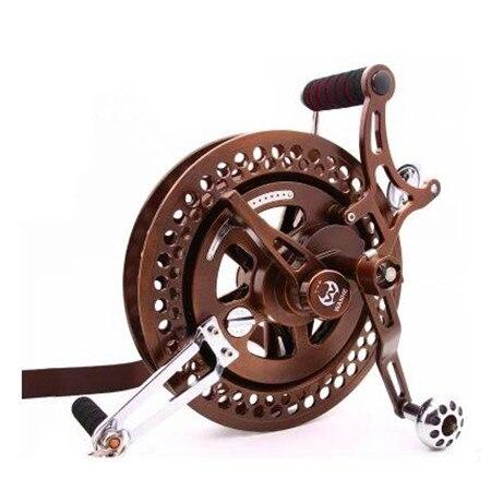 Livraison gratuite nouveau 27 cm en acier allié volant grand cerfs-volants bobine avec frein à disque puissance cerf-volant roue emmakites usine weifang