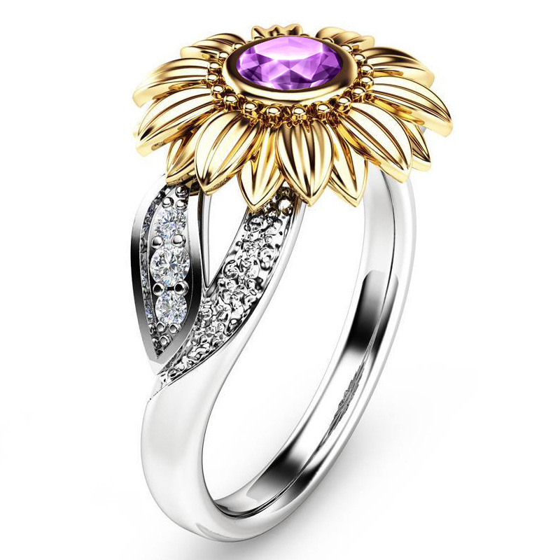Crystal Sunflower Ring 6