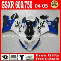 Тела запасных частей для SUZUKI 2004 2005 белый синий черный GSXR 600 750 пользовательских зализа K4 RIZLA версия gsxr600 GSX R750 04 05