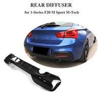 1 Series Car Rear Bumper Diffuser Lip for BMW F20 M Sport M135i M140i Hatchback 2 Door 4 Door 2016 2017 2018 Carbon Fiber