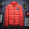 2016 tres colores de poliéster fina chaqueta de invierno hombres parka abrigo caliente ocasional outwear M-3XL JPYG134