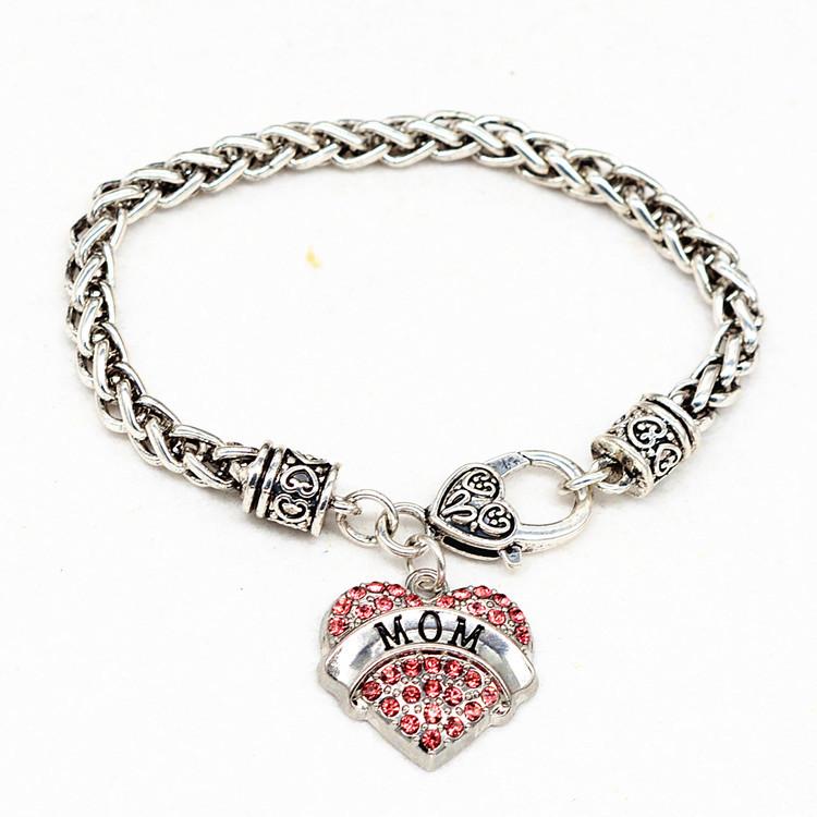 HTB1tLEkPFXXXXXEXpXXq6xXFXXXb - Bracelet with Heart Shaped Charm 'Mom'