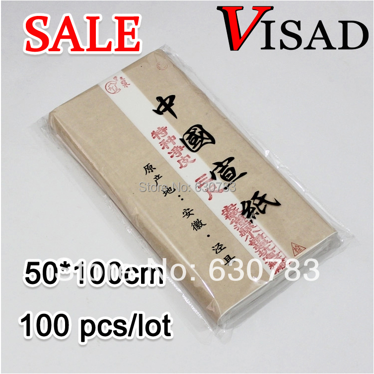 free shipping 100 pcs/lot 50*100cm white VISAD Chinese painting rice paper for artist Painting & Calligraphy,SALE Xuan paper