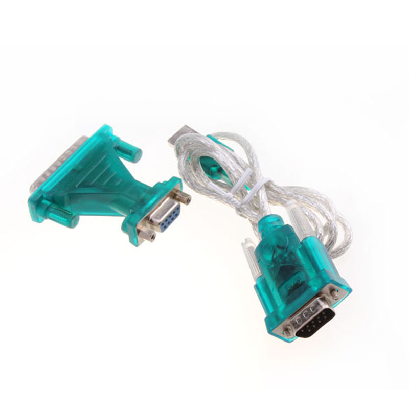 USB 2.0 To RS232 Com Port 9 PIN SERIAL DB25 DB9 Adapter Cable Converter Computer cable Male to Male M/M Adapter for PC PDA GPS