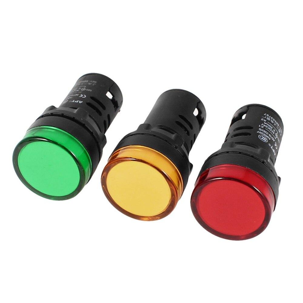 Бытовая техника AD16-22D/S светодиодный сигнальная Панель индикаторная лампа 22 мм DC 24 В 3 шт. Профессиональное освещение