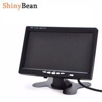 7 인치 HD 자동차 모니터 고해상도 TFT LCD 800x480 백미러 16:9 화면 DC 12 볼트 24 볼트 DVD