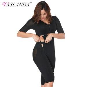 Image 1 - VASLANDA Women Full Body Shaper Post Partum Bodysuits Slimming Underwear Waist Girdles Trainer Butt Lifter Plus Size Shapewear