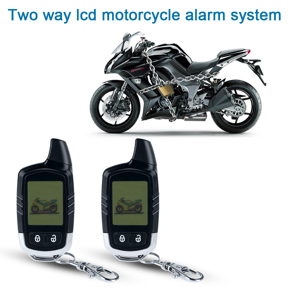 Motorcycle Alarm Security System Motorbike Microwave sensor 2 Way Alarm Theft Protection Long Range Distance LCD Remote Control цена 2017