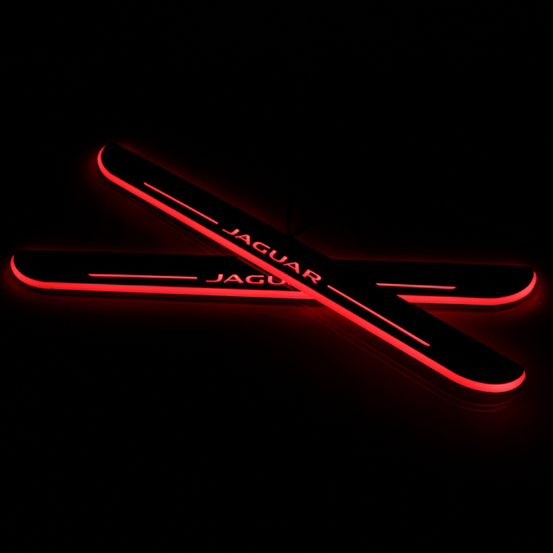 CARiD LED Car Scuff Plate Trim Pedal Door Sill Pathway Moving Welcome Light For Jaguar XF 2012 2013 2014 2015 Waterproof