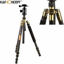 K F CONCEPT Professional Portable Carbon Fiber Camera Tripod to Monopod Ball Head Carry Bag for