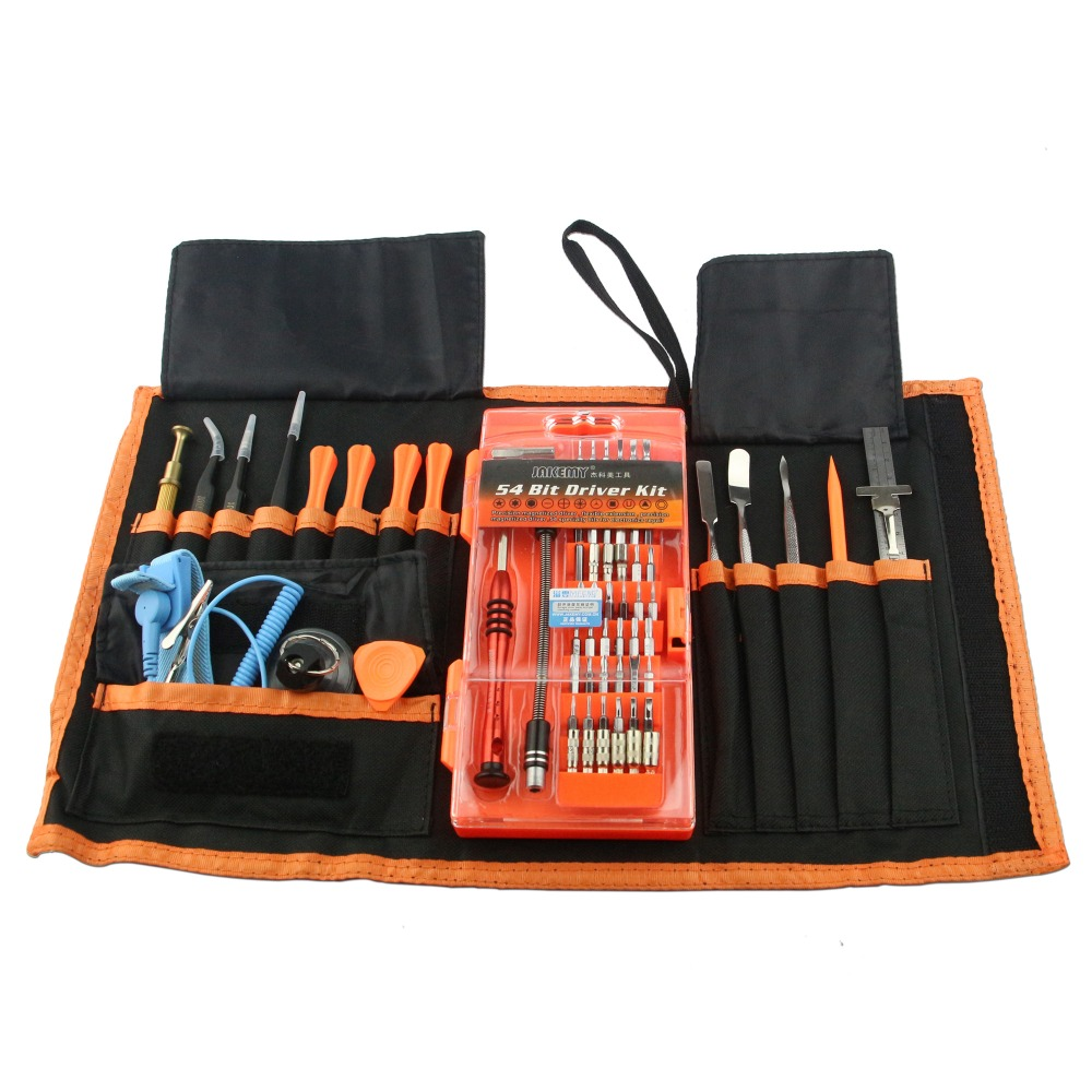 JAKEMY 74 in 1 New Professional Electronic Precision Screwdriver Set Hand Tool Box for iPhone PC Repair Tools Maintenance Bag 2016 new jakemy jm 8152 portable professional hardware tool set screwdriver set 44 in 1