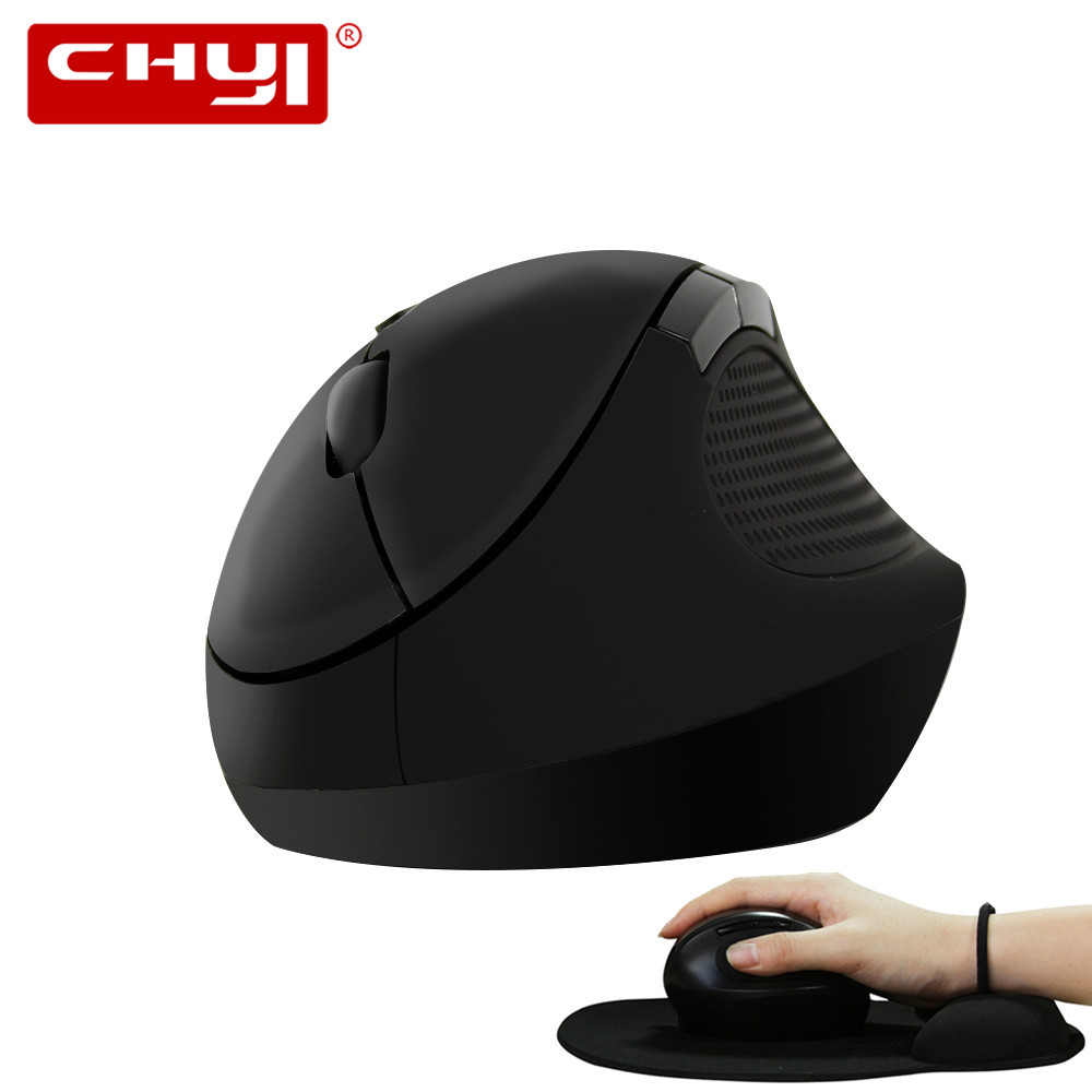 Wireless Vertical Mouse Ergonomic 800/1200/1600DPI Optical Mause 6D Computer Gaming Mice With Wrist Rest Mouse Pad For PC Laptop