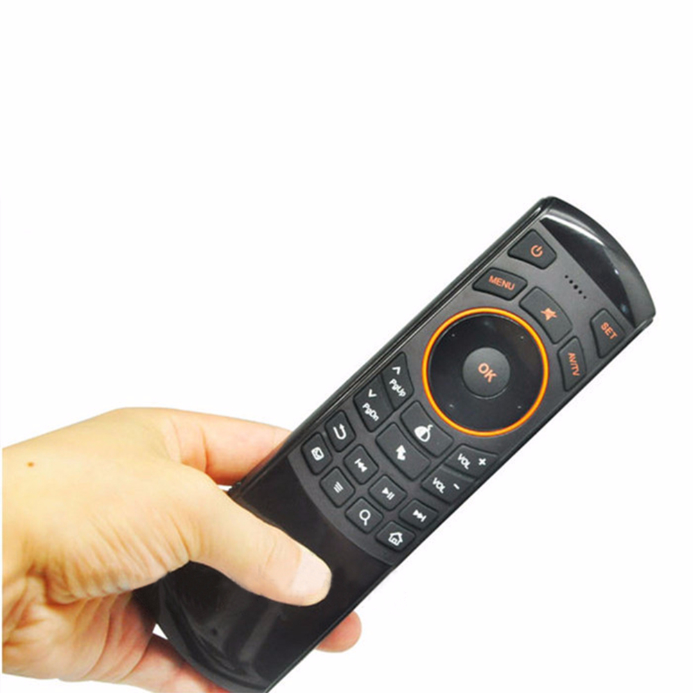 GRWIBEOU 2.4 Ghz Fly Air Mouse Remote Control Keyboard Mini Rechargeable Wireless Keyboard for Samsung Smart TV Android TV Box 5