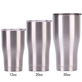 Vaso de hielo de 50 piezas 12/20/30 OZ con monograma taza de viaje de acero inoxidable de doble pared de vacío de café tazas de agua para cerveza al aire libre