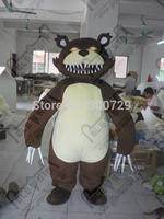 white belly Bobcats mascot costumes forest monster bear mascot costumes cartoon evil teddy costumes
