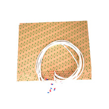 420*594*1,5 мм Тепловая кровать для 3D-принтера 230 в 2000 Вт клейкая 1 сторона 100 к термистор 1000 мм свинцовый провод из середины 594 мм стороны