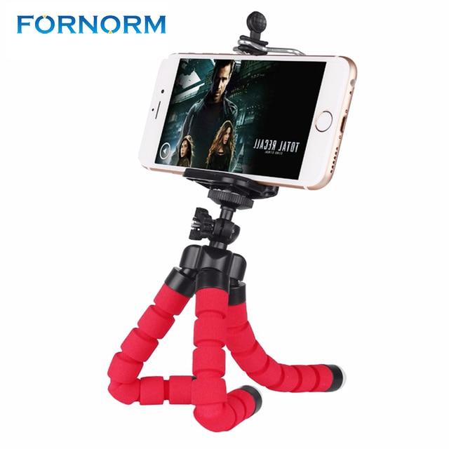 Fornorm ile Mini Taşınabilir Esnek Tripod Telefon Tutucu Braketi Standı Tripod Kiti iPhone 6 s 7 Xiaomi Samsung HTC için DSLR kamera